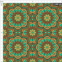 Tecido Tricoline Digital Mandala Arabesca 9100E826