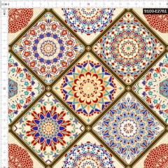 Tecido Tricoline Digital Mandalas Diferenciadas VIntage 9100e2761