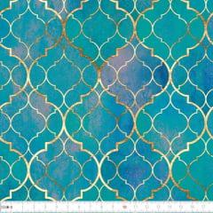 Tecido Tricoline Digital Arabesco Batik  9100e2275