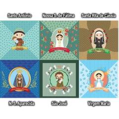 Tecido Tricoline Digital Para Almofadas Religiosa (KIT 2) 9100e1388b