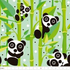 Tecido Tricoline Digital Urso Panda 9100e2252