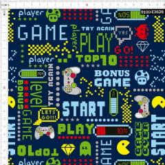 Tecido Tricoline Digital Videogames Retrô 9100e3628