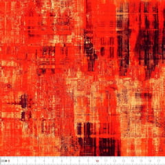 Tecido Tricoline Estampado Digial Batik Laranja 9100e2228
