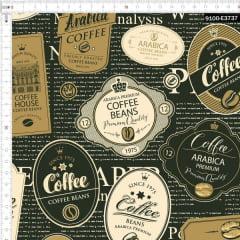 Tecido Tricoline Estampado Digital Café Especial 9100e3737