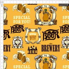 Tecido Tricoline Estampado Digital Cerveja Especial 9100e3729