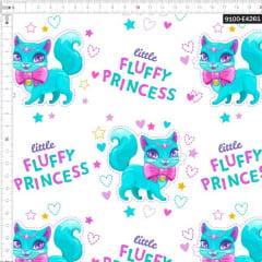 Tecido Tricoline Estampado Digital Fluffy Princess 9100e4261