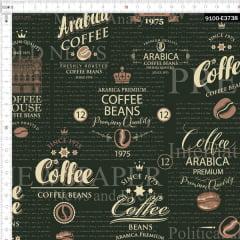 Tecido Tricoline Estampado Digital Grãos de Café 9100e3738