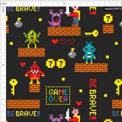 Tecido Tricoline Estampado Digital Jogo do Heroi 9100e3970