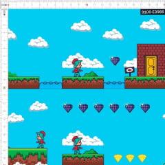 Tecido Tricoline Estampado Digital Jogos de Aventura 9100e3985