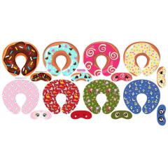 Tecido Tricoline Estampado Digital Kit Almofada e Máscara de Dormir Doces e Animais 9100e4449
