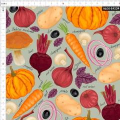 Tecido Tricoline Estampado Digital Legumes para Ensopado 9100e4224
