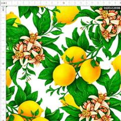 Tecido Tricoline Estampado Digital Limão Siciliano 9100e2698