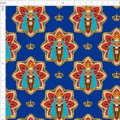 Tecido Tricoline Estampado Digital Nossa Senhora Royal 9100e4414