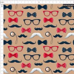 Tecido Tricoline Estampado Digital Óculos e Monóculos 9100e4369