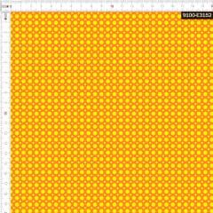 Tecido Tricoline Estampado Digital Poá Amarelo 9100e3152