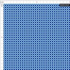 Tecido Tricoline Estampado Digital Poá Azul 9100e3147