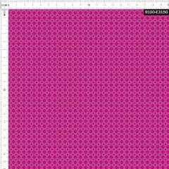 Tecido Tricoline Estampado Digital Poá Pink e Rose 9100e3150