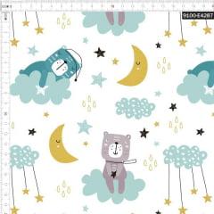 Tecido Tricoline Estampado Digital Sonhos de Urso 9100e4287