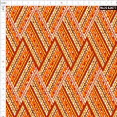 Tecido Tricoline Estampado Digital  Chevron Étnico 9100e2677