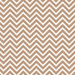 Tecido Tricoline Mista Chevron Marrom 14534