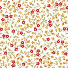 Tecido Tricoline Mista Estampado Mine Floral 10478