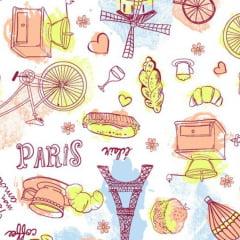 Tecido Tricoline Mista Paris 17831c1
