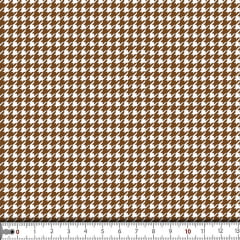 Tecido Tricoline Estampado Mini Pied De Poule Marrom 16704c2