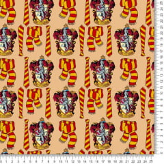 Tecido Poliéster Estampado Harry Potter Gryffindor RA55642