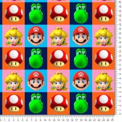 Tecido Poliéster Estampado Mario 3D RANV72590JH