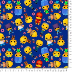 Tecido Poliéster Estampado Simpsons Kids RA73030JH