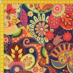 Tecido Tricoline Estampado Floral 9100E419