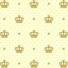 Tecido Tricoline Mista Coroa Dourada 14434