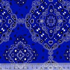 Tecido Tricoline Bandana - Azul Royal 2272-9