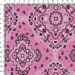 Tecido Tricoline Bandana - Rosa Forte 2272-56