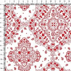 Tecido Tricoline Bandana - Vermelho Branco 2272-59