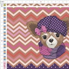 Tecido Tricoline Digital Kit Para Necessaire Dogs 9100e1843