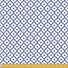 Tecido Tricoline Estampado Arabesco Azulejo 2018v01