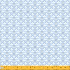 Tecido Tricoline Estampado Mini Floral Lírio Real Azul 1195v082