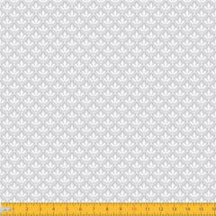 Tecido Tricoline Estampado Mini Floral Lírio Real Cinza 1195v091