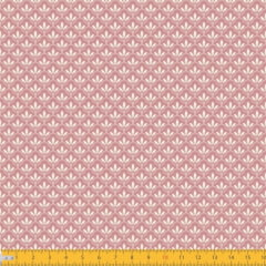 Tecido Tricoline Estampado Mini Floral Lírio Real Fundo Rose 1195v130