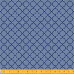 Tecido Tricoline Estampado Arabesco Português Azul 2011v02