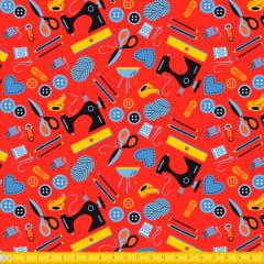 Tecido Tricoline Estampado Aviamentos para Costura 6070v01