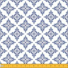 Tecido Tricoline Estampado Azulejo Floral 2040v01