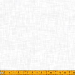 Tecido Tricoline Estampado Branco Sobre Branco Tramas 1556V203