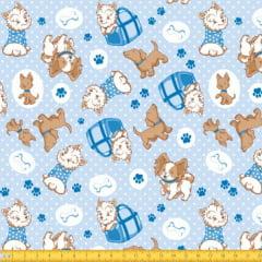Tecido Tricoline Estampado Cachorros  6065v02