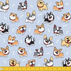 Tecido Tricoline Estampado Cachorros 6138v01