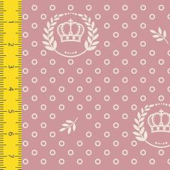 Tecido Tricoline Estampado Coroa Rosa Seco 1169v130