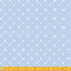 Tecido Tricoline Estampado Decorado Fundo Azul 1192v082