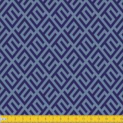 Tecido Tricoline Estampado Elegance Azul Must Have 1240v02