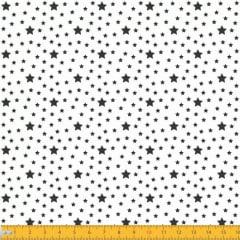 Tecido Tricoline Estampado Estrelas Fundo Branco 1229v103